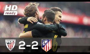 El Athletic empata a golazos 2-2 ante el Atletico de Madrid (Video)