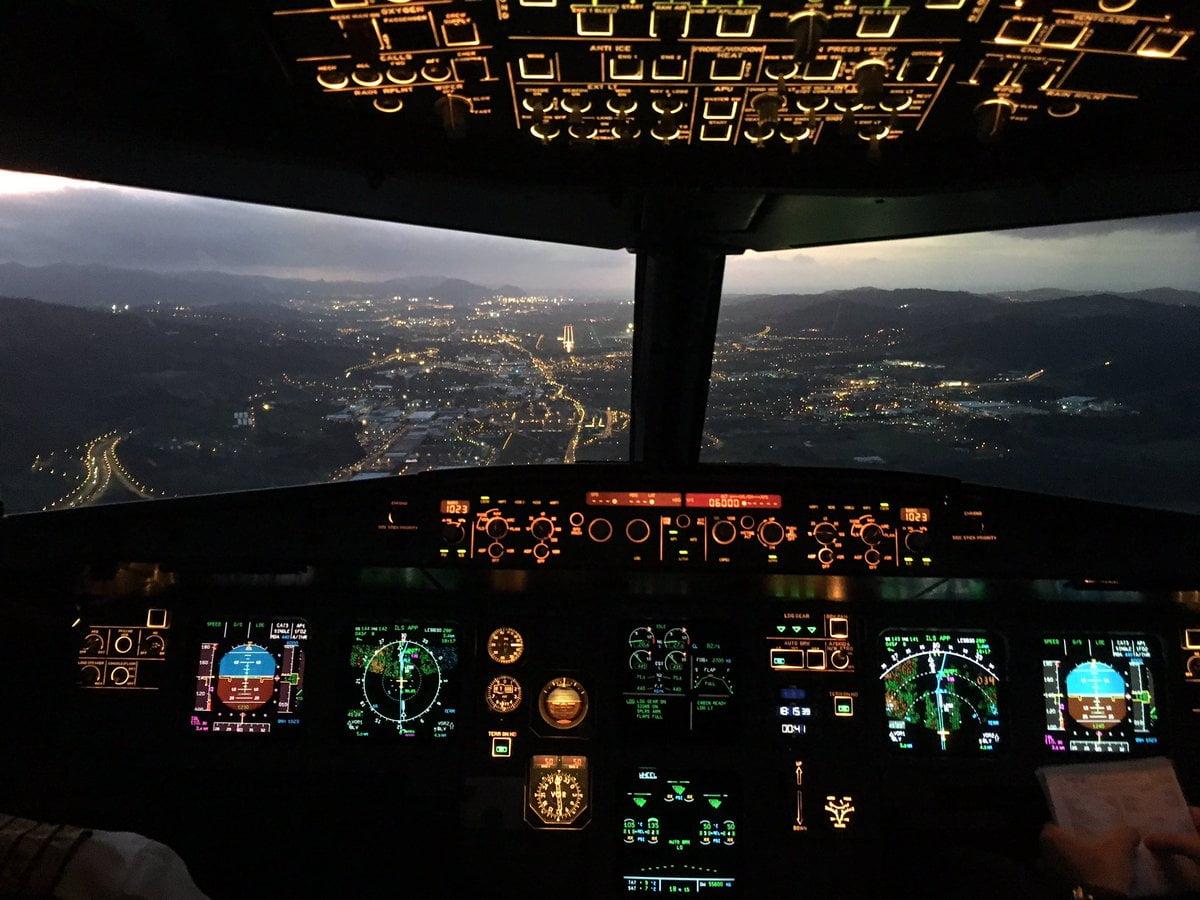Aterrizando en Bilbao